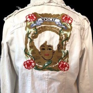 Neslay Geisha Distressed Utility Jacket Boho